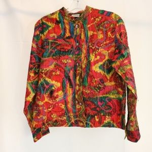 Chicos Women's 0 (Size 4) Silk Jacket Paisley